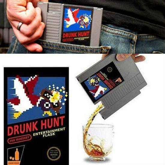 Nintendo Game Cartridge Flask