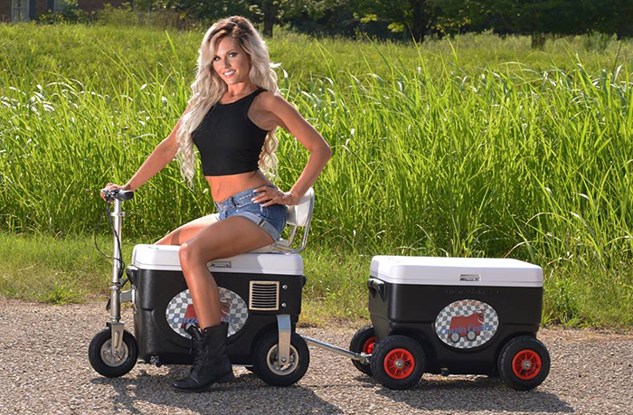 Electric Scooter Cooler