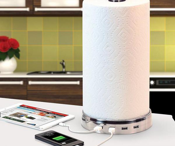 Paper Towel USB Charger Hub
